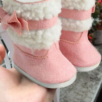 Fashion Doll's Pink Shoes Boots For 18 Inch Girl Doll Clothes Toy