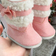 Fashion Doll's Pink Shoes Boots For 18 Inch Girl Doll Clothes Gift Toy
