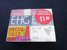 TDK E-HG Extra High Grade VHS Camcorder Tape 2 Pack