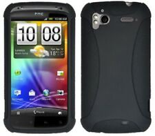 AMZER Silicone Soft Skin Jelly Case Cover Fits For HTC Sensation/ XE/ 4G - Black