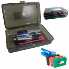 New Plastic Pencil Box Pen Art Craft Storage Kid School Office Case Stationery