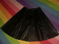 falda cuero muy fina marca angel ye london  negro ver etiquetado 34-36