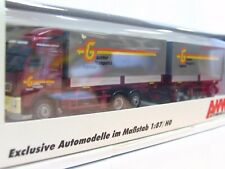AWM 1/87 71949 Volvo Wechselpritschenhängerzug Galliker OVP (TR7184)