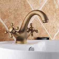 Vintage Bathroom Basin Faucet Tap Antique Brass Vanity Sink Faucet 15012