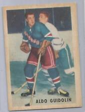 "1953-54 Parkhurst Hockey Aldo Guidolin Card # 66 Vg-Ex Condition ""A"""