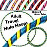 PRO Hula Hoops (UltraGrip/Glitter) 3COLOUR Weighted TRAVEL Hoola Hoop- 100cm/39""