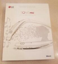 LG Tone PRO HBS-770 Premium Bluetooth Wireless Earbud Stereo Headset White NEW