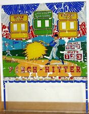 1959 Williams Pinch Hitter 2-Plyr P&B Baseball Arcade Machine Original Backglass
