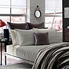 Kenneth Cole Reaction Home Willow Dove 1 Standard Pillow Sham Grey Quiilted