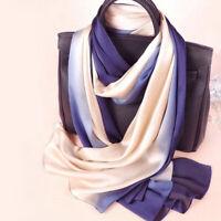 180*90cm Women's Fashion Wraps Hijab Scarf Gradient Sunscreen Silk Shawl