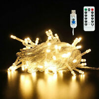 65FT LED Curtain Fairy Hanging String Lights Christmas Wedding Party Home Decor