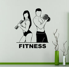 Fitness Club Wall Vinyl Decal Sport Gym Emblem Vinyl Sticker Window Stickers 10