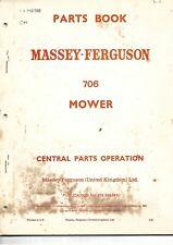 MASSEY FERGUSON MF 706 MOWER PARTS BOOK  .................................  1968