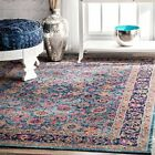 Isela Vintage Persian Area Rug, 4' x 6', BlueTraditional Design Free Shipping