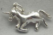 Argento Sterling Charm Ciondolo Unicorno 3d