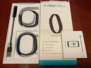 Fitbit Flex 2 Fitness Activity Waterproof Tracker - Navy Bands - Open Box