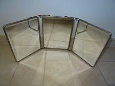 ancien miroir triptyque biseaute salle de bain deco art populaire vintage