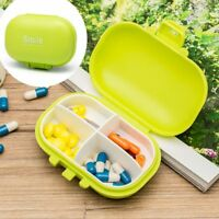 Travel Cute Jewelry Container Medicine Box 4 Compartment Pill Storage Case