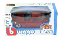 Burago 1/43 Diecast Model Car - 2014 Corvette Stingray in Met Red  'Street Fire'