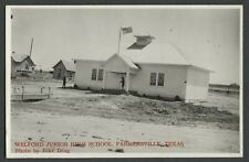 Farmersville TX: c.1940s RPPC Real Photo Postcard WELFORD JUNIOR HIGH SCHOOL