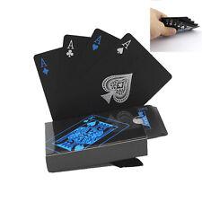 schwarze Kunststoff PVC Poker Wasserdichte Magie Spielkarten Sets Magic neu