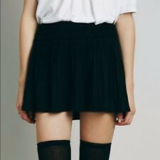 NWT XS Free People Black Mini Skirt Sweater Fabric Winter Wear Stretchy Fabric