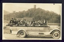 cpa PHOTO prise en 1930 Vallée d'ARGELÈS Automobile GARAGE COSTALLAT à Lourdes