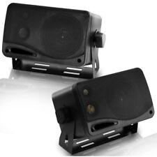 Pyramid 2022SX 3-1/4'' 3-Way Mini Box Speaker Pair 200 Watt - Black