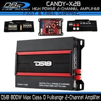 DS18 CANDY-X2B 2 Channel Car Stereo Amplifier 800W Max Class D Audio Speaker Amp