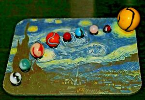 Marbles Solar System - Planets are Correctly Sized + Educational Booklet - Teach