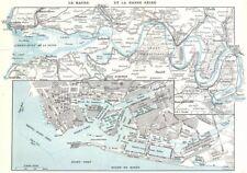 SEINE- MARITIME. Le Havre Basse Seine; Bassin Marée 1900 old antique map chart