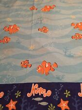 DISNEY PIXAR FINDING NEMO FISH TWIN BED SIZE FLAT SHEET ONLY DIY FABRIC MATERIAL