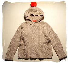 MINI BODEN*toller Pullover*122-128*Mädchen*BOMMEL*beige*ZOPFMUSTER*30% WOLLE