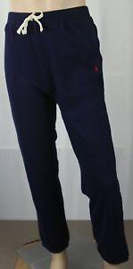 Polo Ralph Lauren Youth Navy Blue Fleece Sweatpants Red Pony NWT