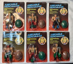 Vintage Galaxy Fighters Warriors Amicable Herculean MOTU TMNT KO bootleg Set MOC