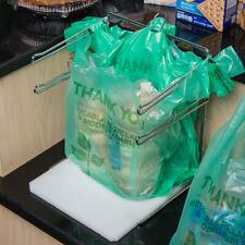 Chrome T Shirt Bag Rack Stand Holder Dispenser Bag Hook Grocery Bagging