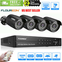 Home Security System 8CH 1080P 1080N AHD DVR+4XOutdoor Camera 3000TVL 1080P 2MP