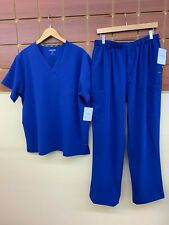 NEW Men's Jockey Galaxy Blue Solid Scrubs Set With Large Top & Large Pants NWT