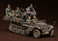 1/35 german crew Sd.Kfz.10/4 fur 2cm FlaK 30 X 6 resin soldier