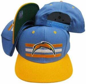 San Diego Chargers Blue/Yellow Billboard Snapback Adjustable Snap Back Hat Cap