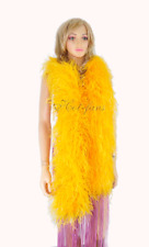 "lightweight 12 ply gold yellow Ostrich Feather Boa 71"" length Burlesque Costume"
