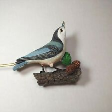 Nuthatch Bird Danbury Mint Songbird Collection Christmas Ornament Vintage As Is