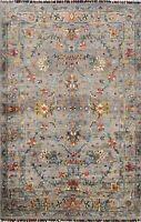 Floral Vegetable Dye Ziegler Oriental Area Rug Hand-knotted Kitchen Carpet 4'x6'
