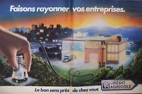 PUBLICITÉ DE PRESSE 1983 CRÉDIT AGRICOLE FAISONS RAYONNER VOS ENTREPRISES