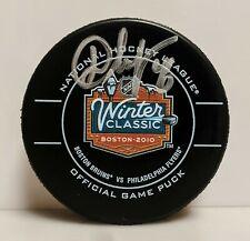 David Krejci Boston Bruins Signed 2010 Winter Classic Official Game Puck