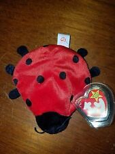 Ty Beanie Baby Lucky the Ladybug (with 10 spots) PVC Pellets RARE with Errors