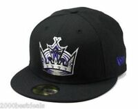 New Era 59Fifty Cap Mens NHL Los Angeles Kings Black Purple Fitted 5950 Hat