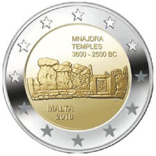2018 Malta € 2 Euro Uncirculated UNC Coin UNESCO World Heritage: Mnajdra Temples