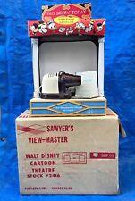 Vintage Sawyer's View-Master Walt Disney Cartoon Theater w/Projector Reels Box