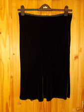 BODEN black SILK velvet velour stretch midi knee length party evening skirt 8 36